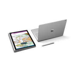 "Microsoft Surface Book - 13.5"" (3000 x 2000) - Core i7 (6th Gen, HD520) dGPU - 8 GB RAM - 256 GB SSD Windows 10 Pro Eng"
